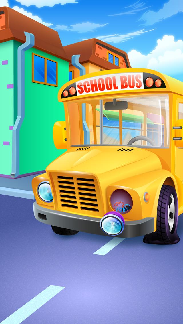 Mia goes to School - Preschool Salon & Kids Games screenshot 3