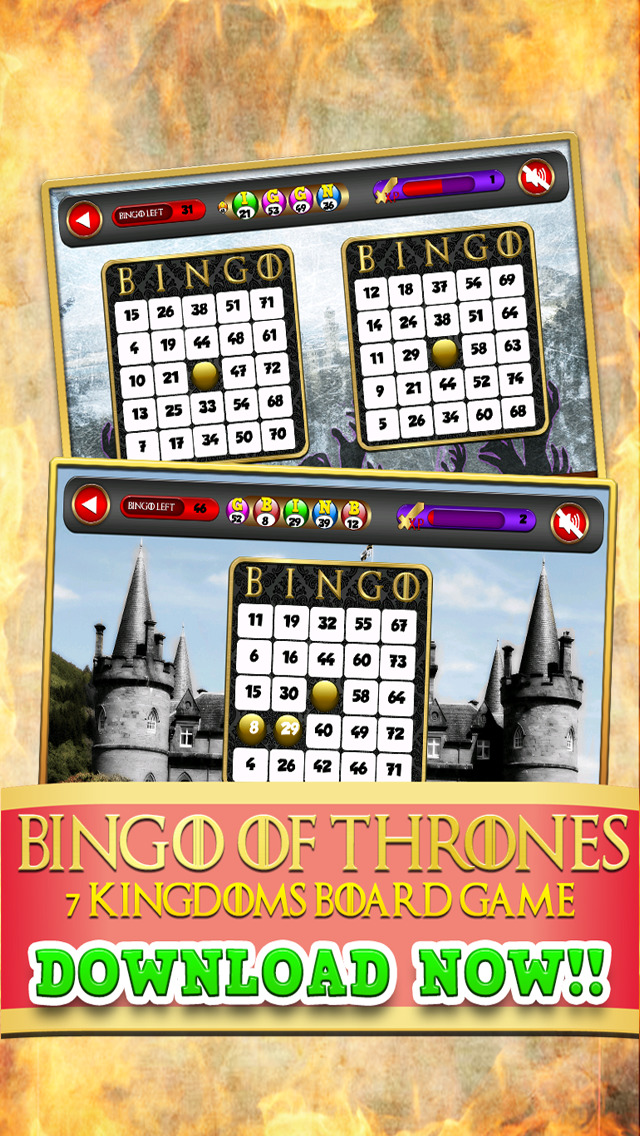 Bingo of Thrones 7 Kingdoms Board Game Free screenshot 1
