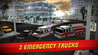 Emergency Simulator 3D - Real Driving and Parking Test Sim - Drive and Park Ambulance, Fire Truck and Police Car screenshot 3