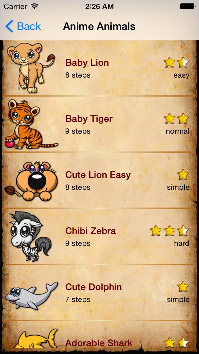Learn To Draw Cute Anime Animals screenshot 1