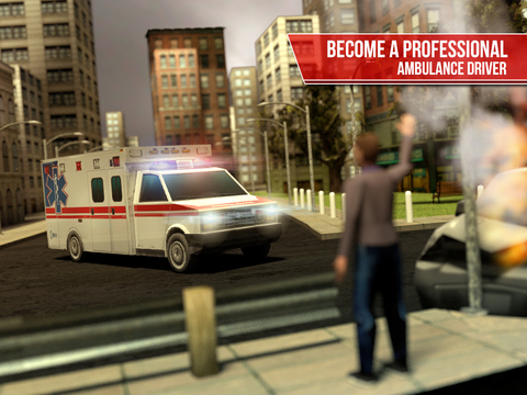 Ambulance Simulator 3D - Patients emergency rescue and hospital delivery sim - Test real car driving, parking and racing skills screenshot 7