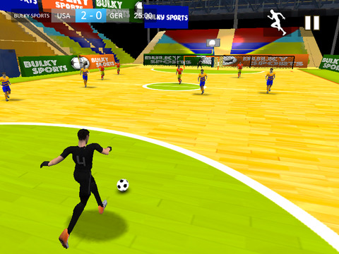 Indoor Soccer 2015: Ultimate futsal football game in beautiful arena by BULKY SPORTS [Premium] screenshot 8