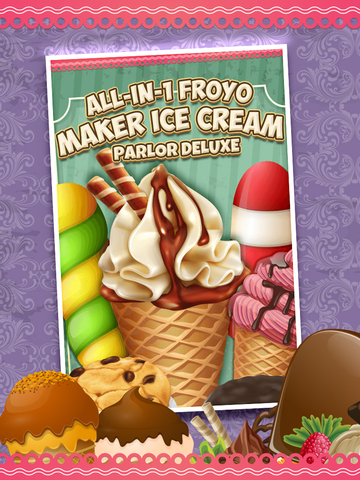 A All-in-1 Froyo Maker Ice Cream Parlor - Deluxe Yogurt Dessert Creator screenshot 6