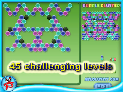 Bubble Clusterz Puzzle HD screenshot 1