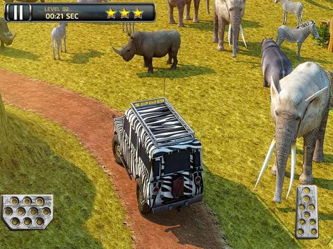 3D Safari Parking Free - Realistic Lion, Rhino, Elephant, and Zebra Adventure Simulator Games screenshot 8