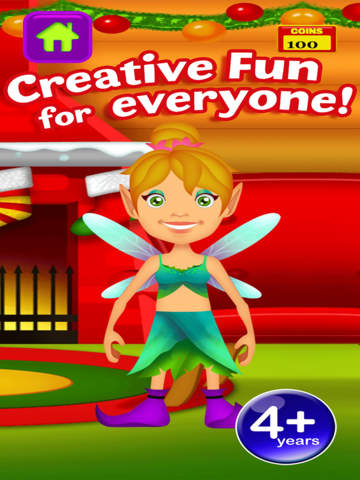 My Magic Little Elf and Fairy Princess Dream Xmas Party Adventure Free Dress Up Game screenshot 9
