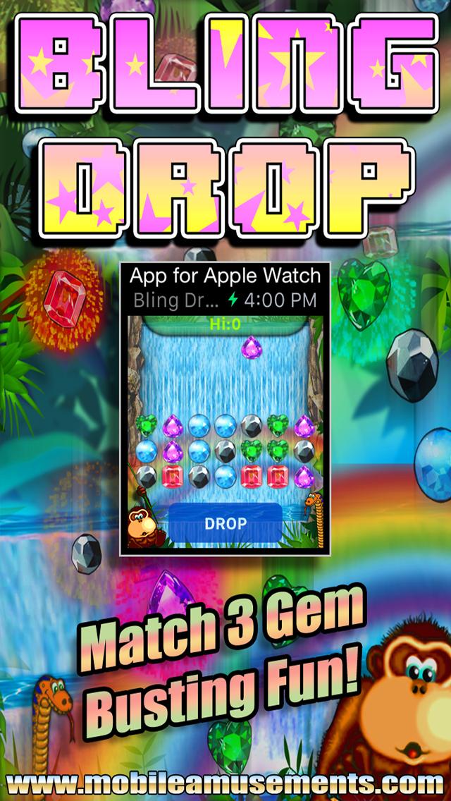 Bling Drop for Apple Watch screenshot 1