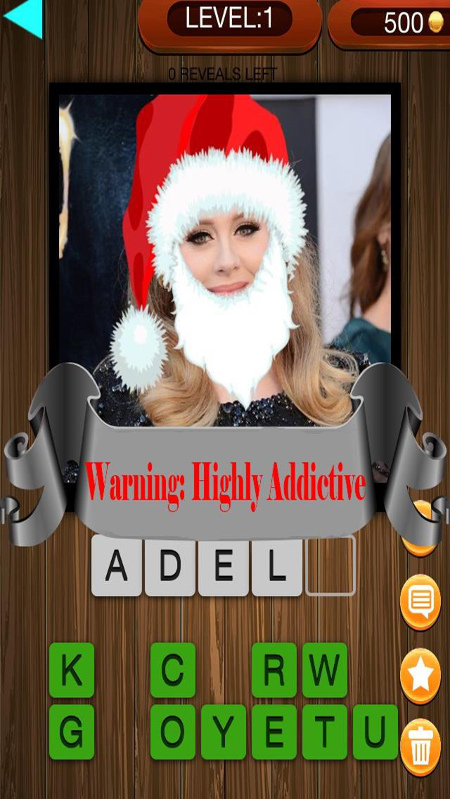 Christmas Factor Celebrity Santa Guess Who Pics Trivia Quiz - The Free App screenshot 1