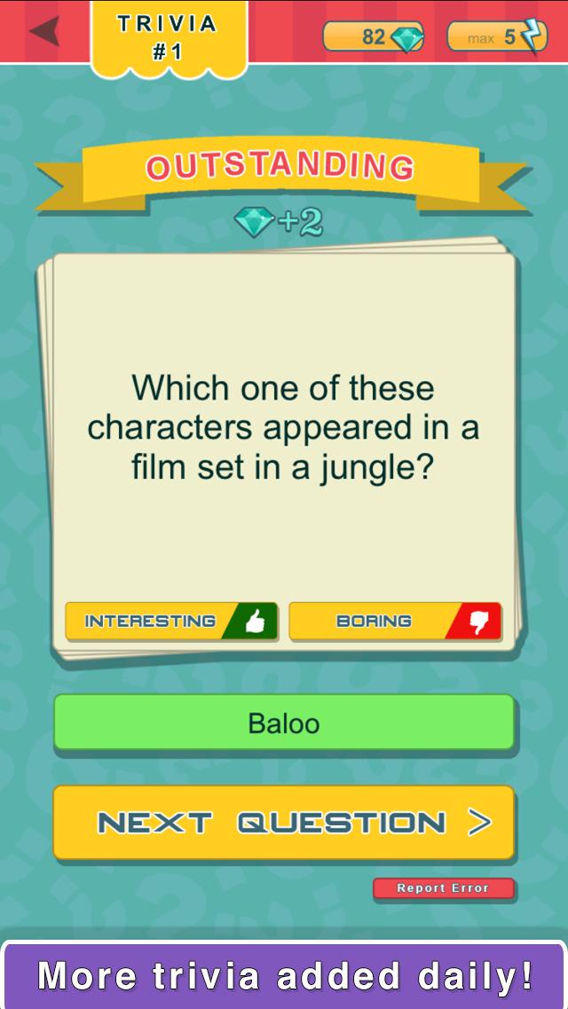 Trivia Quest™ Characters - trivia questions screenshot 2