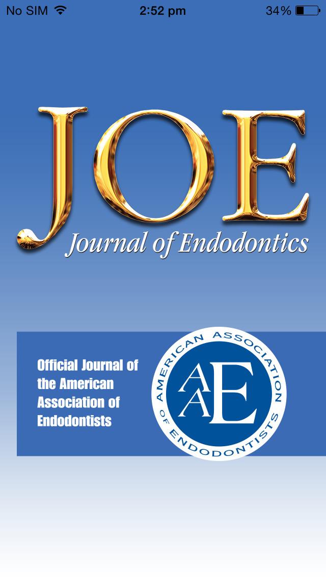 JOE: Journal of Endodontics screenshot 1