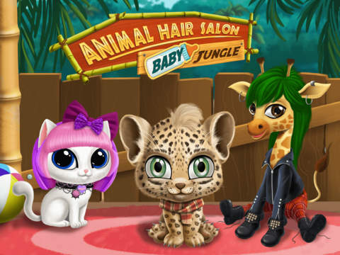 Baby Jungle Animal Hair Salon - No Ads screenshot 6