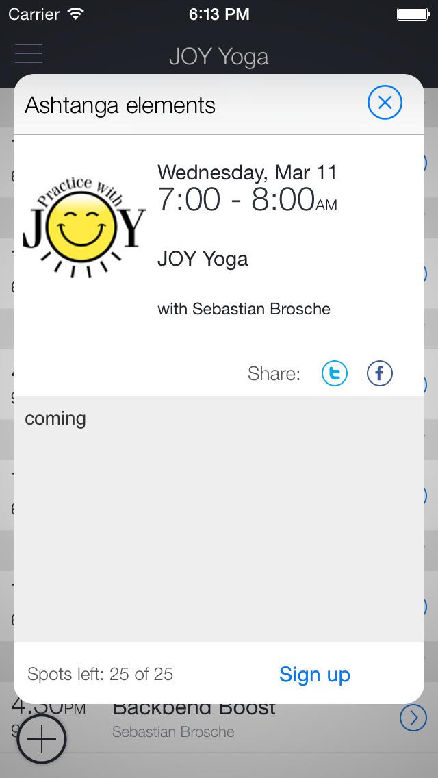 Joy Yoga Oslo screenshot 2