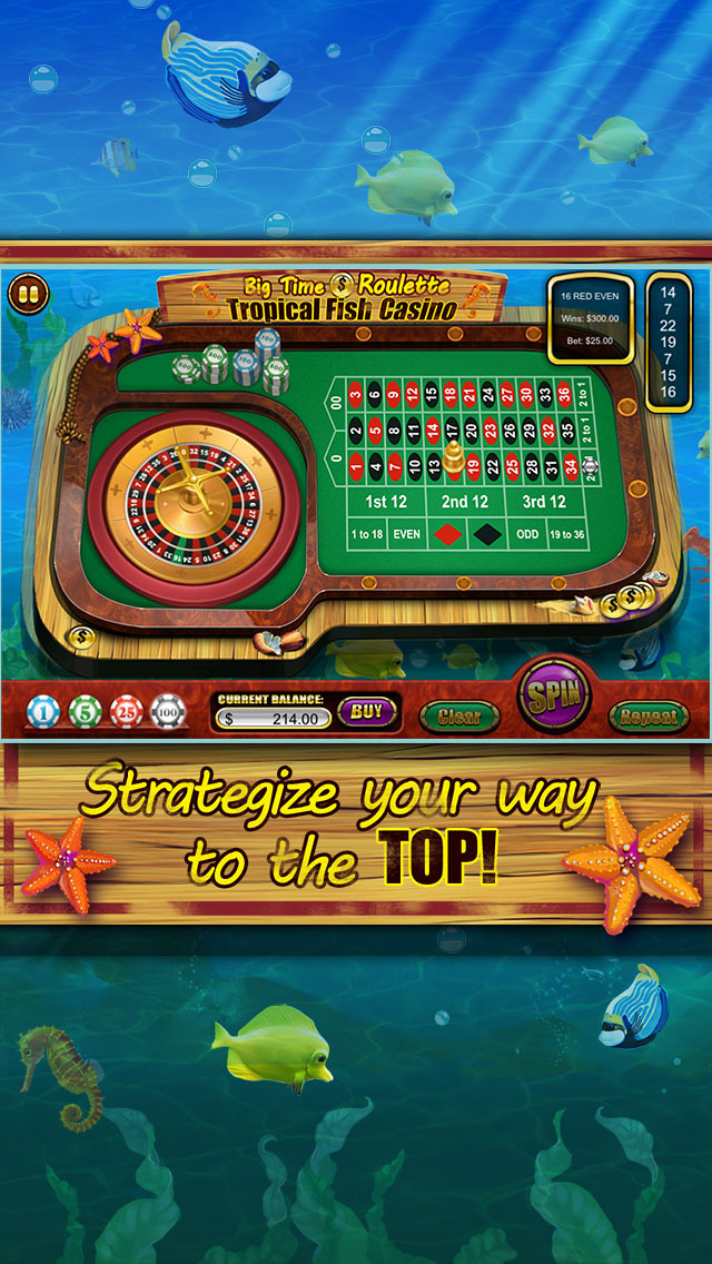 Roulette of Tropical Fish Casino 777 (Win Big) screenshot 5