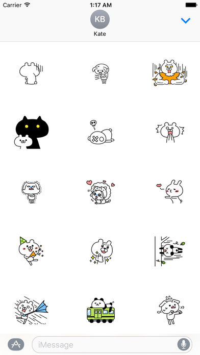 Funny Rabbit And Bear Stickers Pack screenshot 2