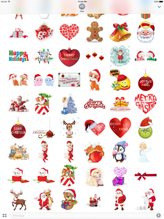 Sweet Christmas Stickers for iMessage screenshot 5