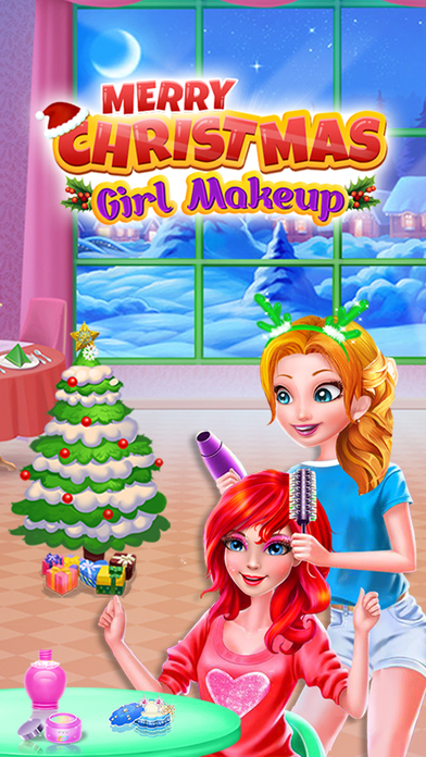 Merry Christmas Girl Makeup screenshot 3