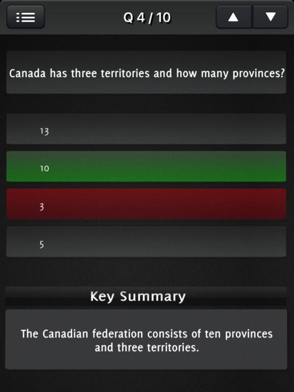 Canada Citizenship 2017 - All Questions screenshot 9