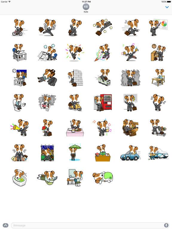 Dog Working Hard Stickers screenshot 4