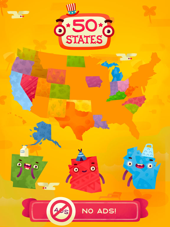 50 States (Ad Free) - Top Education Stack Games screenshot 6