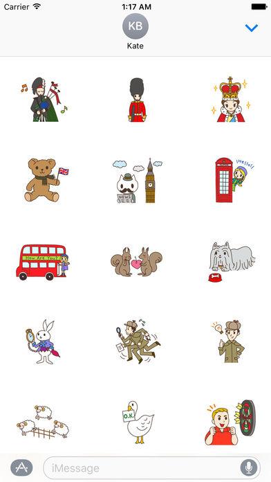 I Love Uk Stickers Pack screenshot 1