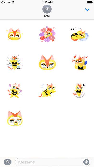 Bikini Cat Sticker screenshot 3