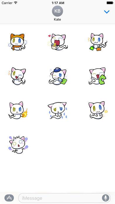 Cute Ghost Cat Stickers Pack screenshot 3