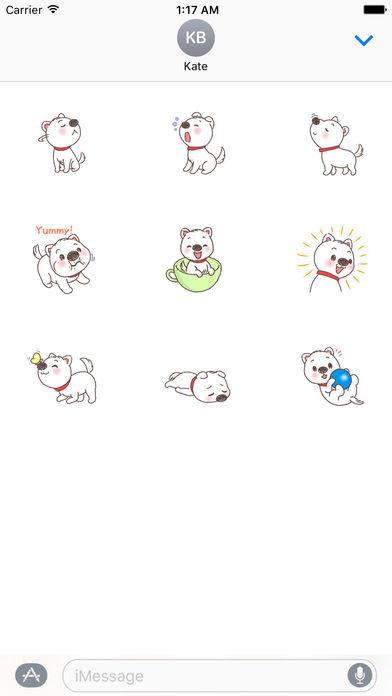 Adorable Puppy Sticker screenshot 3