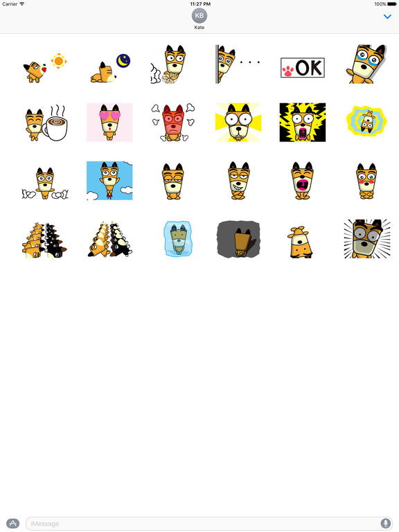 Animated Eccentric Dog Stickers screenshot 3
