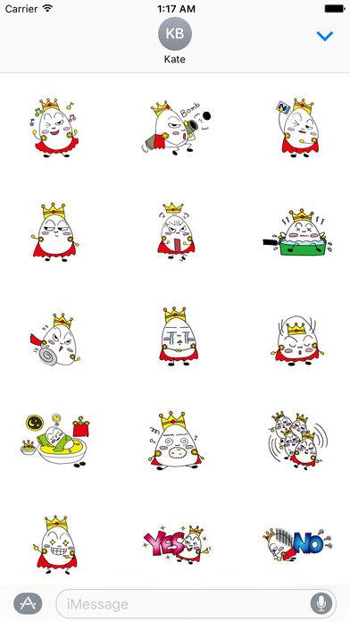Prince Of Eggs Emoji Sticker screenshot 1