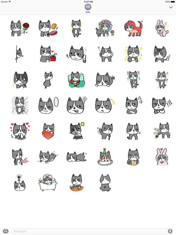 Many Stickers Of Cool Boston Terrier screenshot 4