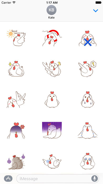 Cute Rooster Stickers screenshot 2