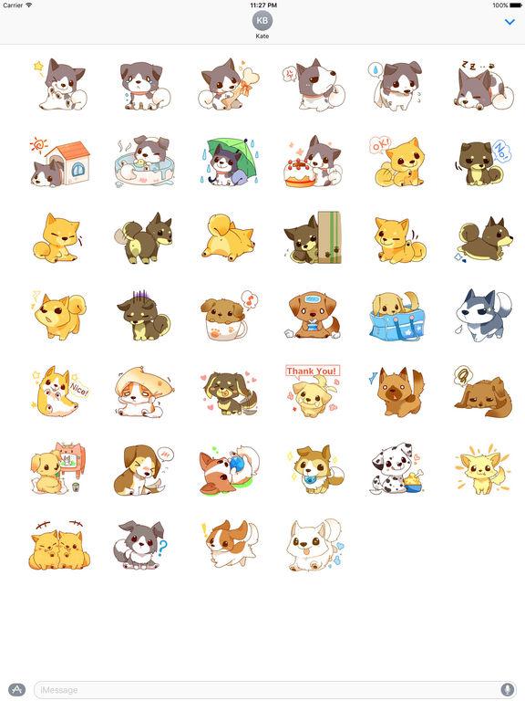 Cute Tibi Dogs Stickers screenshot 4