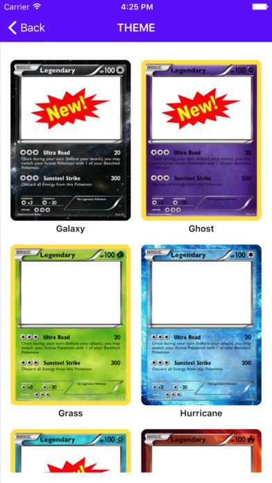 Card Maker Creator for Pokemon screenshot 4
