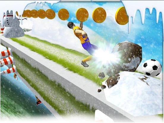 Soccer stunts and race - winters soccer trainer 3d screenshot 7