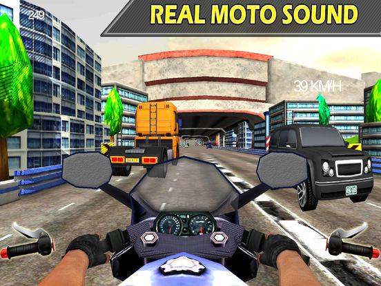 Moto X-Bike Traffic Racer : High-way Down-Hill 3D screenshot 4