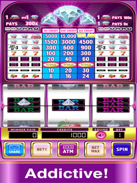 Triple Double Diamond Slots Pro Edition screenshot 2