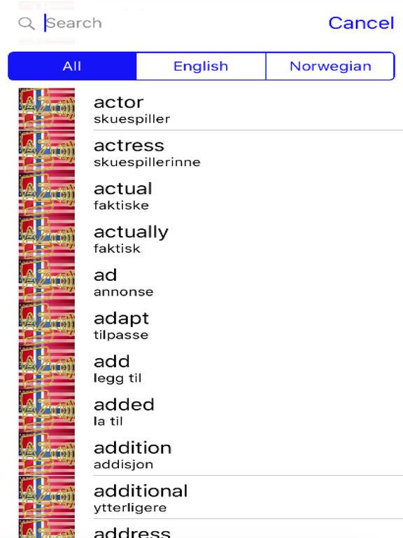 Norwegian Dictionary GoldEdition screenshot 7