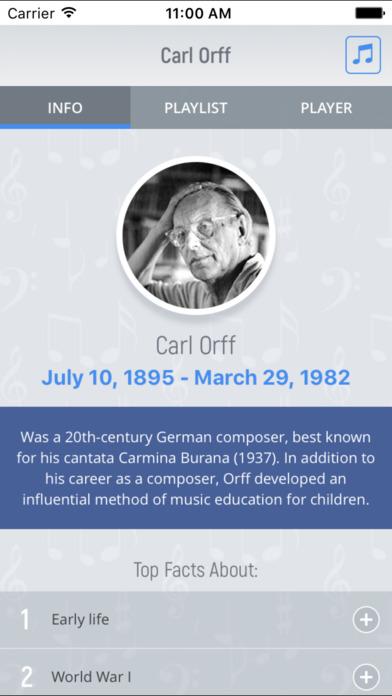 Carl Orff - Classical Music screenshot 1
