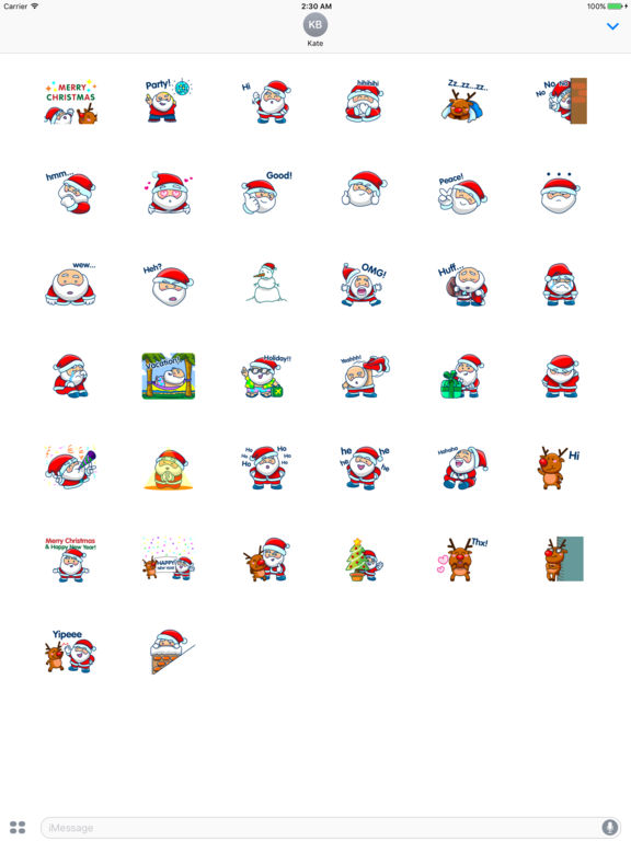 Santa Claus And Rudolph - His Reindeer Stickers screenshot 4