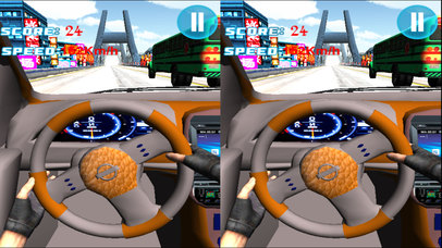 VR Fast Car Race : Extreme EndLess Driving 3d game screenshot 2