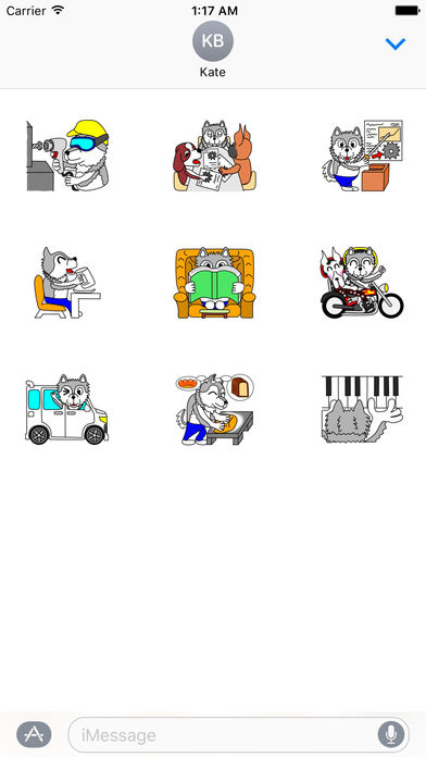 Sporty Alaskan Malamute Stickers screenshot 3
