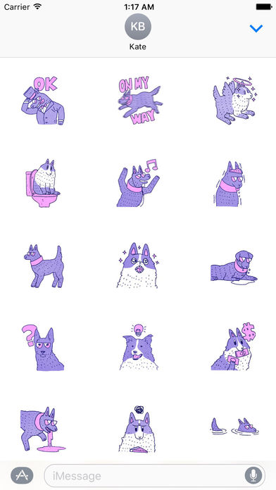 Violet Wolf Sticker screenshot 2