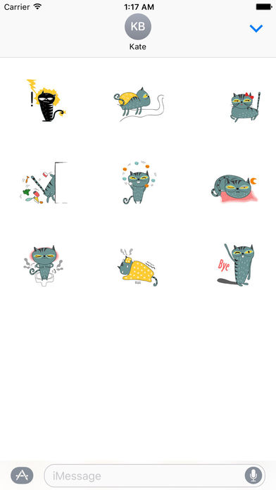 Animated Comic Cat Sticker screenshot 2