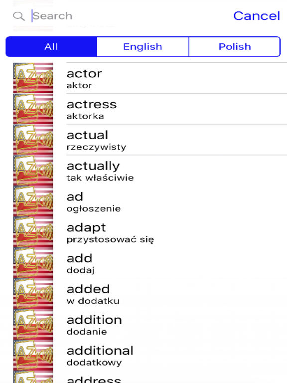 Polish Dictionary GoldEdition screenshot 7