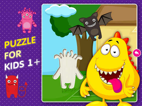 Monster Puzzle Games: Toddler Kids Learning Apps screenshot 6