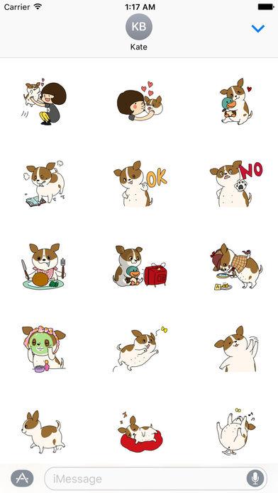 Very Cute Fat Chihuahua Dog Stickers Pack screenshot 1