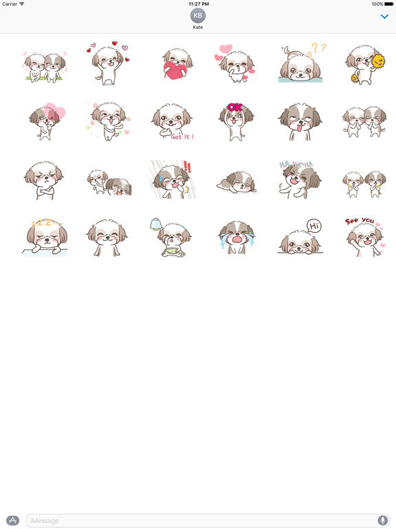 Animated Two Cute Dogs Stickers screenshot 3