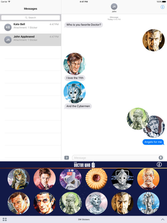 Doctor Who Stickers Pack 1 screenshot 8