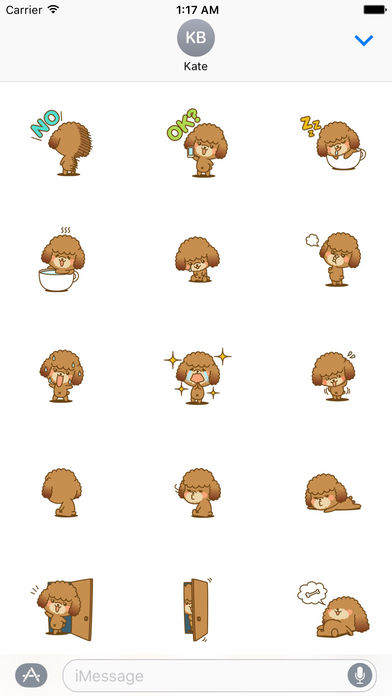 Lovely Toy Poodle Dog Stickers Pack screenshot 2