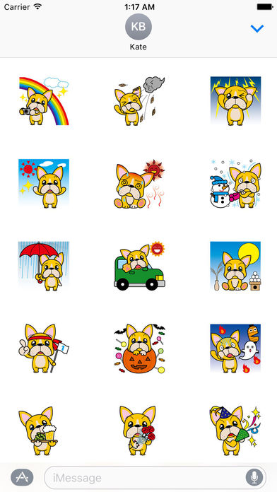A Lonely French Bulldog Sticker screenshot 1